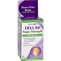 HGR0901397 - NatrolDHA 500 Super Strength - 500 mg - 30 Softgels