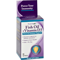 HGR0901413 - NatrolFish Oil Plus Vitamin D3 Heart and Immune Support - 90 Softgels