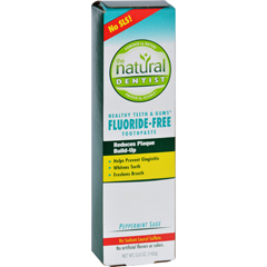 HGR0903468 - Natural DentistFluoride Free Toothpaste Pepperrmint Sage - 5 oz