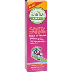 HGR0903476 - Natural DentistCavity Zapper Anticavity Gel Toothpaste Berry Blast - 5 oz