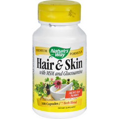 HGR0903625 - Nature's WayHair and Skin with MSM and Glucosamine - 100 Capsules