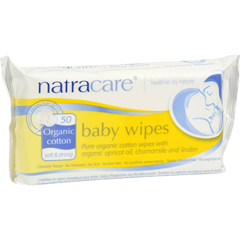 HGR0903633 - NatracareOrganic Cotton Baby Wipes - 50 Pack