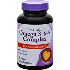 HGR0904474 - NatrolOmega 3-6-9 Complex Lemon - 60 Softgels