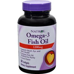 HGR0911032 - NatrolOmega-3 Fish Oil Lemon - 1200 mg - 60 Softgels