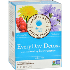 HGR0911115 - Traditional MedicinalsEveryDay Detox Herbal Tea - Case of 6 - 16 Bags