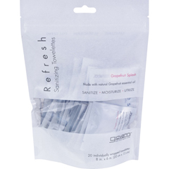 HGR0914713 - Giovanni Hair Care ProductsGiovanni Refresh Towelettes Grapefruit Splash - 20 Towelettes