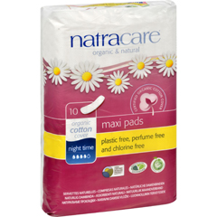 HGR0916064 - NatracareNatural Night Time Pads - 10 Pack