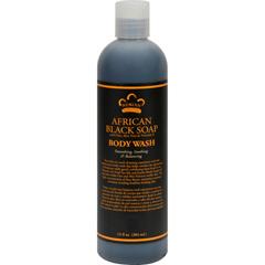 HGR0917997 - Nubian HeritageAfrican Black Soap Body Wash and Scrub - 13 fl oz