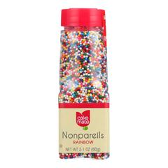 HGR0919605 - Cake Mate - Decorating Decors - Nonpareils - Rainbow - 2.1 oz.. - Case of 6
