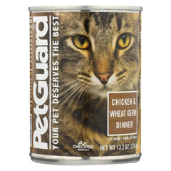 HGR0926543 - PetGuardCats Food - Chicken and Wheat Germ Dinner - Case of 12 - 13.2 oz.