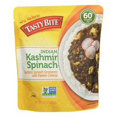 HGR0927111 - Tasty Bite - Entrees - Indian Cuisine - Kashmir Spinach - 10 oz.. - case of 6