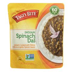 HGR0928721 - Tasty Bite - Entree - Indian Cuisine - Spinach Dal - Indian - 10 oz.. - case of 6