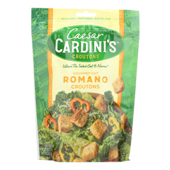 HGR0929307 - Cardini's - - Croutons Romano Cheese - Case of 12-5 oz.