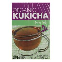 HGR0931154 - Eden Foods - 100% Organic Kukicha Twig Tea - Case of 12 - 16 BAG