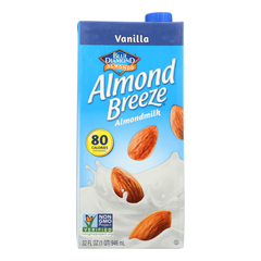 HGR0933994 - Almond Breeze - Almond Milk - Vanilla - Case of 12 - 32 fl oz..