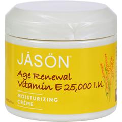HGR0935007 - Jason Natural ProductsMoisturizing Creme Vitamin E Age Renewal Fragrance Free - 25000 IU - 4 oz