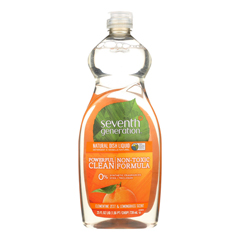 HGR0935924 - Seventh Generation - Dish Liquid - Lemongrass and Clementine Zest - 25 oz.