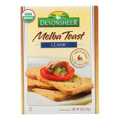 HGR0936088 - Devonsheer - Organic Classic Melba Toast - Case of 12 - 5 oz..