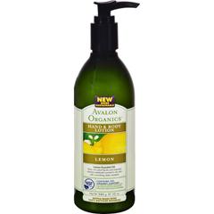 HGR0936591 - AvalonOrganics Hand and Body Lotion Lemon - 12 fl oz