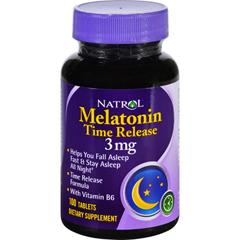 HGR0937193 - NatrolMelatonin Time Release - 3 mg - 100 Tablets
