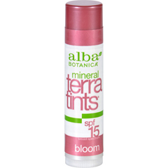 HGR0938837 - Alba BotanicaBloom TerraTints Lip Balm SPF 8 - Case of 12 - .15 oz