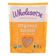 HGR0940254 - Wholesome Sweeteners - Dehydrated Cane Juice - Organic - Sucanat - 2 lbs - case of 12