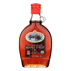 HGR0943795 - Shady Maple Farms - 100 Percent Pure Organic Maple Syrup - Case of 12 - 12.7 Fl oz..