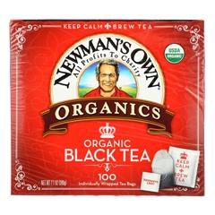 HGR0945782 - Newman's Own Organics - Organic Black Tea - Case of 5 - 100 Bags