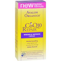HGR0954875 - AvalonOrganics CoQ10 Repair Wrinkle Defense Creme SPF 15 - 1.75 oz