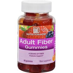 HGR0955690 - Nutrition NowFiber Gummies Blackberry Peach and Strawberry - 60 Gummies