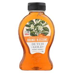 HGR0958546 - Dutch Gold Honey - Orange Blossom Honey - Case of 6 - 16 oz..