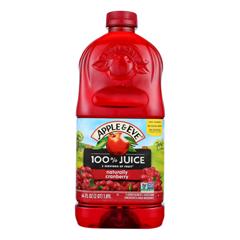 HGR0960625 - Apple and Eve - 100 Percent Juice Naturally Cranberry Juice - Case of 8 - 64 fl oz..