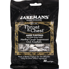 HGR0964353 - JakemansThroat and Chest Lozenges - Licorice Menthol - Case of 12 - 30 Pack