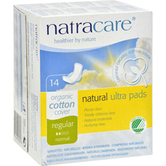 HGR0971051 - NatracareNatural Ultra Pads Organic Cotton Cover - Regular - 14 Pack