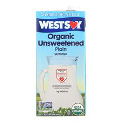 HGR0971705 - Westsoy - Organic Plain - Unsweetened - Case of 12 - 32 Fl oz..