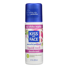 HGR0977462 - Kiss My Face - Deodorant Liquid Rock Roll On Peaceful Patchouli - 3 fl oz.