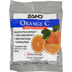 HGR0978254 - ZandHerbaLozenge Orange C Natural Orange - 15 Lozenges - Case of 12