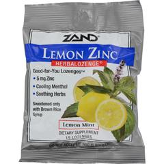 HGR0978262 - ZandHerbaLozenge Lemon Zinc Lemon - 15 Lozenges - Case of 12