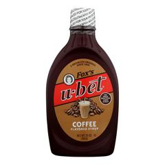 HGR0980177 - Fox's U-Bet - Coffee Syrup - Coffee - Case of 12 - 20 oz.