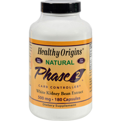 HGR0987636 - Healthy OriginsPhase 2 Carb Controller - 500 mg - 180 Capsules