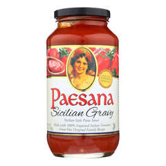 HGR0995811 - Paesana - Sicilian Gravy Sauce - Tomato - Case of 6 - 25 Fl oz..
