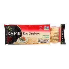 HGR0997544 - Ka'Me - Rice Crackers - Sesame - Case of 12 - 3.5 oz..