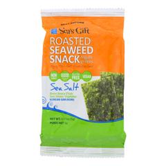 HGR1000371 - Sea's Gift - Seaweed Snack - Roasted and Sea Salt - Case of 24 - 0.17 oz..