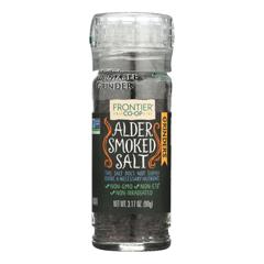 HGR1010958 - Frontier Herb - Alder Smoked Salt - Grinder Bottle - 3.2 oz.. - Case of 6