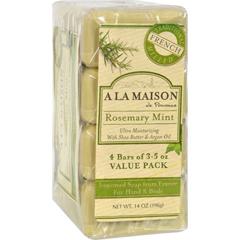 HGR1015692 - A La MaisonBar Soap - Rosemary Mint - Value 4 Pack