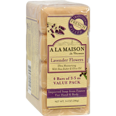 HGR1015718 - A La MaisonBar Soap - Lavender Flower - Value 4 Pack