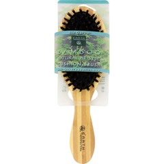HGR1019496 - Earth Therapeutics - Regular Bamboo Natural Bristle Cushion Brush - 1 Brush