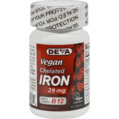 HGR1020320 - Deva Vegan VitaminsChelated Iron - 29 mg - 90 Tablets
