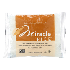 HGR1020874 - Miracle Noodle - Rice - Shirataki - Miracle Rice - 8 oz - case of 6