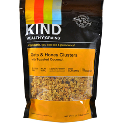 HGR1028570 - Kind - Healthy Grains Oats and Honey Clusters with Toasted Coconut - 11 oz - Case of 6